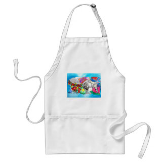 """All things Kiwi"" created from a child's drawings Standard Apron"