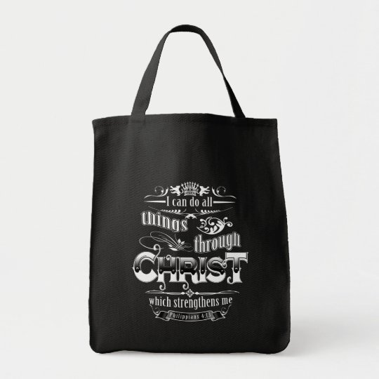 All Things Through Christ Christian Gospel Tote