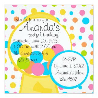 All Those Gumballs! 13 Cm X 13 Cm Square Invitation Card
