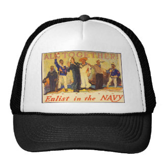 All Together Enlist in the Navy World War 1 1917 Hat