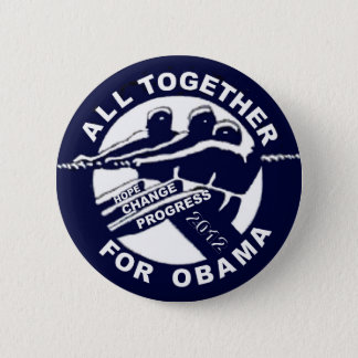 All Together for Obama 2012 6 Cm Round Badge