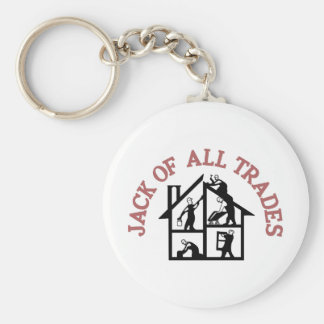 All Trades Basic Round Button Key Ring