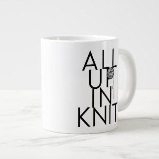 All Up In Knit mug for knitters Jumbo Mug