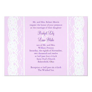 All Vintage French Lace Wedding Invitation (lilac)