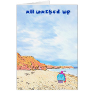 All Washed Up - A year spent on Seaham Beach Card