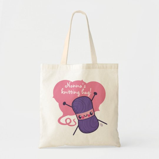 all we knit is love tote bag