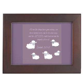 All we like sheep keepsake box