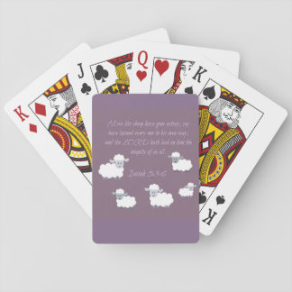 All we like sheep playing cards