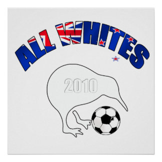All Whites Kiwi Soccer Football fans gifts Print