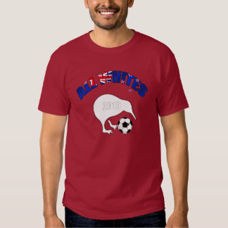 All Whites Kiwi Soccer Football fans gifts T-shirt