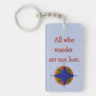 All who wander - keychain