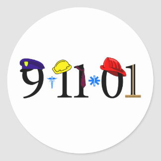 All who were lost 9-11-01 classic round sticker