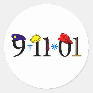 All who were lost 9-11-01 round sticker