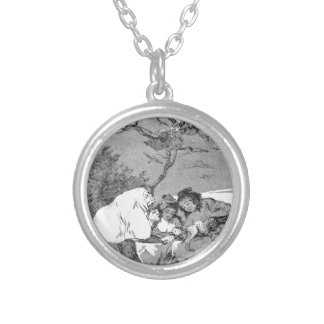 All will fall by Francisco Goya Round Pendant Necklace