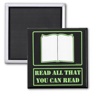 All You Can Read Fridge Magnet