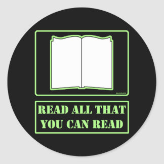 All You Can Read Stickers