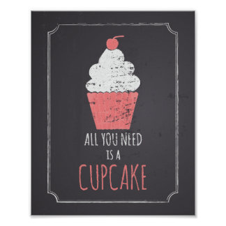 All You Need is a Cupcake Poster