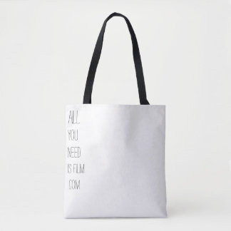 ALL YOU NEED IS FILM .COM TOTE BAG
