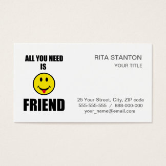 All you need is friend business card