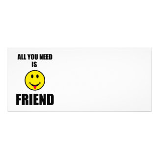 All you need is friend rack card