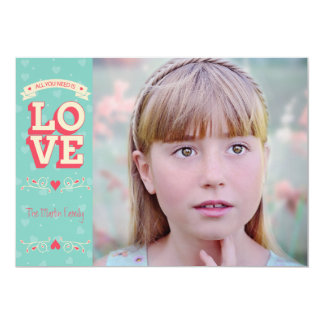 All You Need is Love 13 Cm X 18 Cm Invitation Card