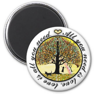 All You Need is Love 6 Cm Round Magnet