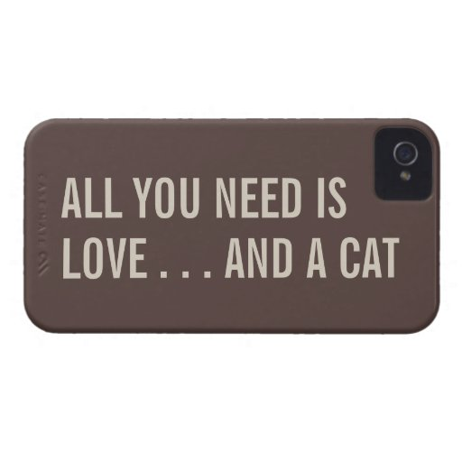 All You Need is Love... and a Cat iPhone 4/4S Case