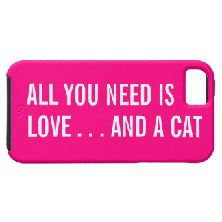 All You Need is Love... and a Cat iPhone 5 Case