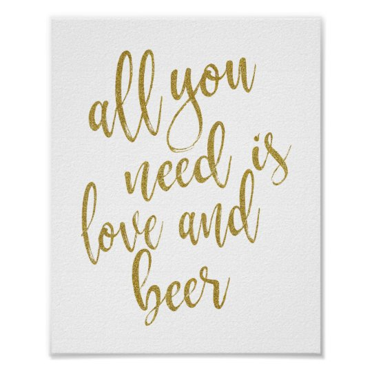 All you need is love and beer Gold