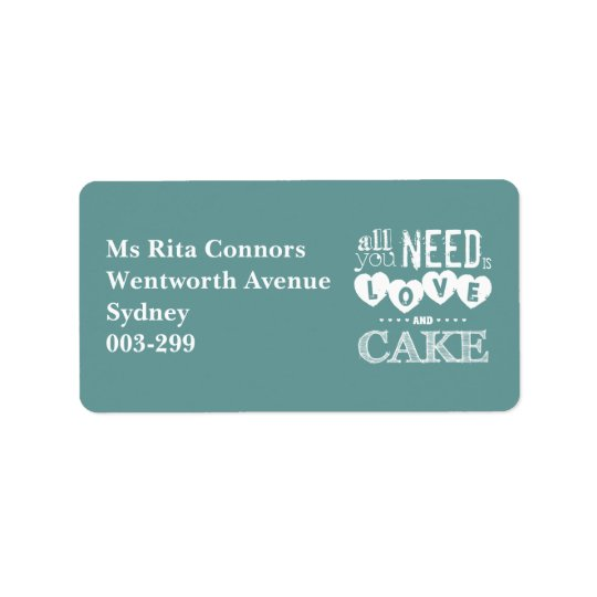All You Need is Love and Cake Address