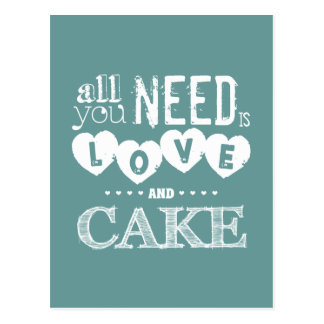 All You Need is Love and Cake Postcard