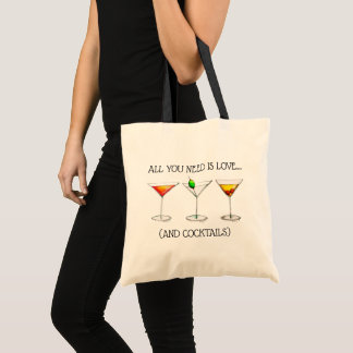 All You Need Is Love (And Cocktails) Martini Cosmo Tote Bag