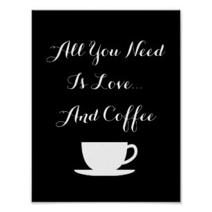 Coffee Love Quotes | Coffee Love Quotes Art Wall Decor Zazzle Co Uk