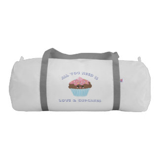 All You Need Is Love And Cupcakes Pastel Colors Gym Duffel Bag