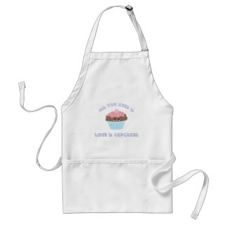 All You Need Is Love And Cupcakes Pastel Colors Standard Apron