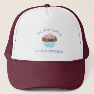 All You Need Is Love And Cupcakes Pastel Colors Trucker Hat