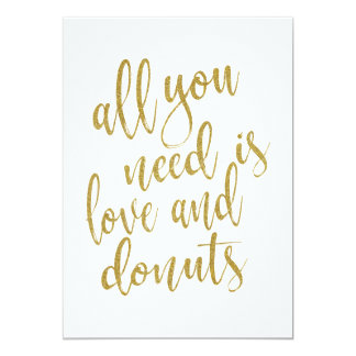 All you need is love and donuts affordable sign card