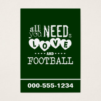 All You Need is Love and Football Business Card