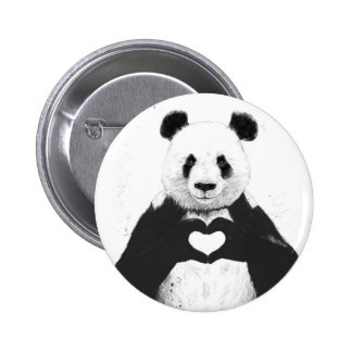 All you need is love 6 cm round badge