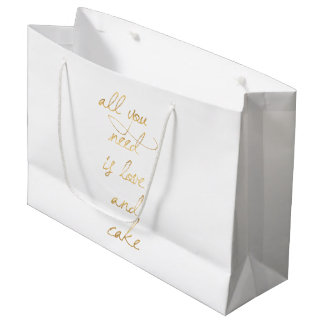All You Need Is Love & Cake Large Gift Bag