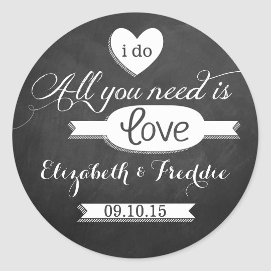 All You Need Is Love Chalkboard Wedding Collection