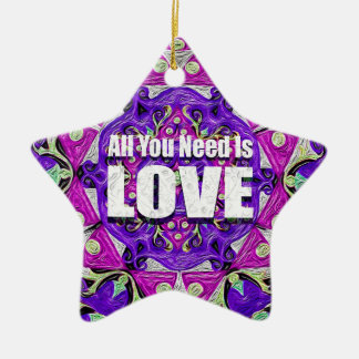 All you need is love. christmas ornament