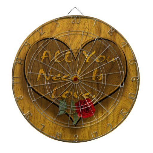 All You Need is Love Dartboard With Darts