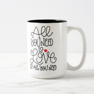 All You Need Is Love | Hand Lettered Coffee Mug
