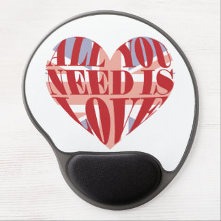 All You Need Is Love Heart Gel Mouse Pad