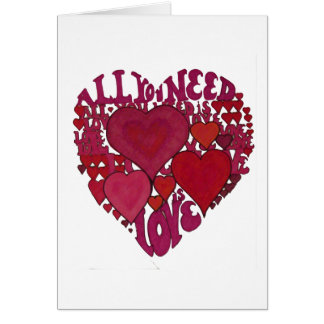All You Need Is Love Heart Greeting Card