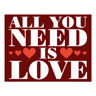 All You Need is Love Personalized Announcement
