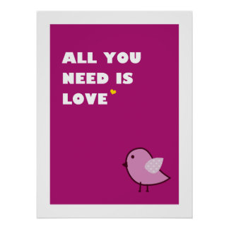 all you need is love - poster pink