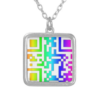 ALL YOU NEED IS LOVE - qr Square Pendant Necklace