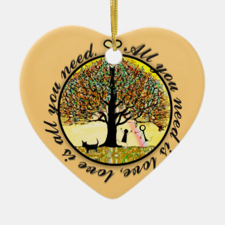 All you need is love tree of life christmas ornament